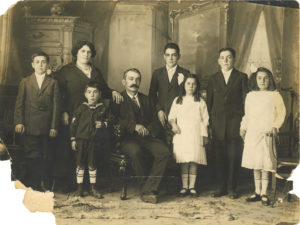 Damaged Antique Family Photo