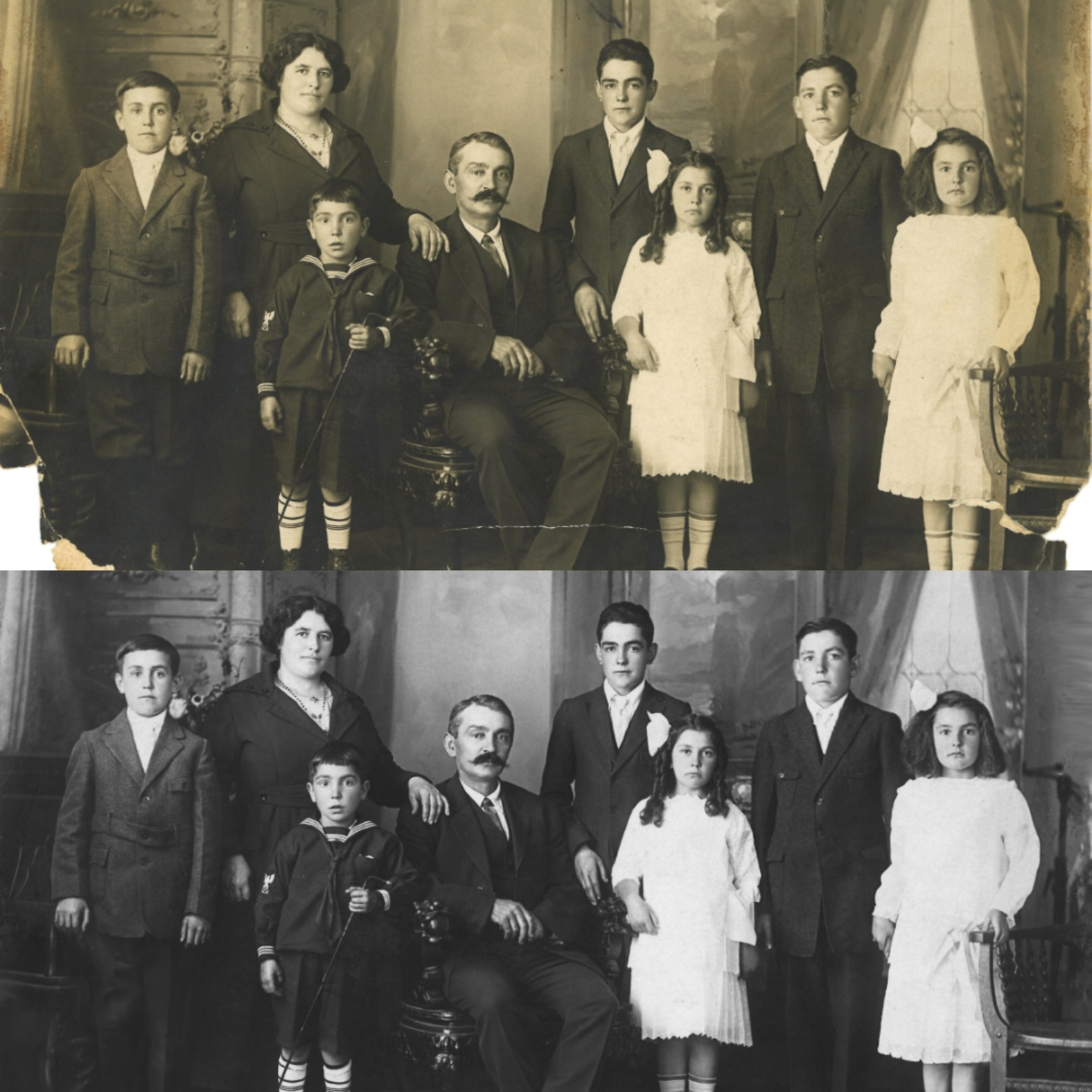 Restored Vintage Photograph