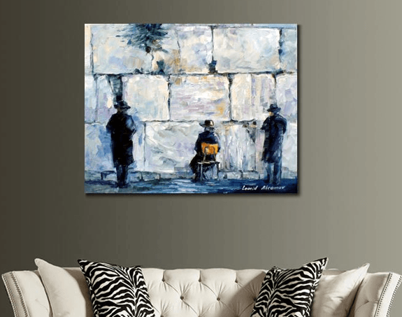 Custom Canvas Print In Living Room