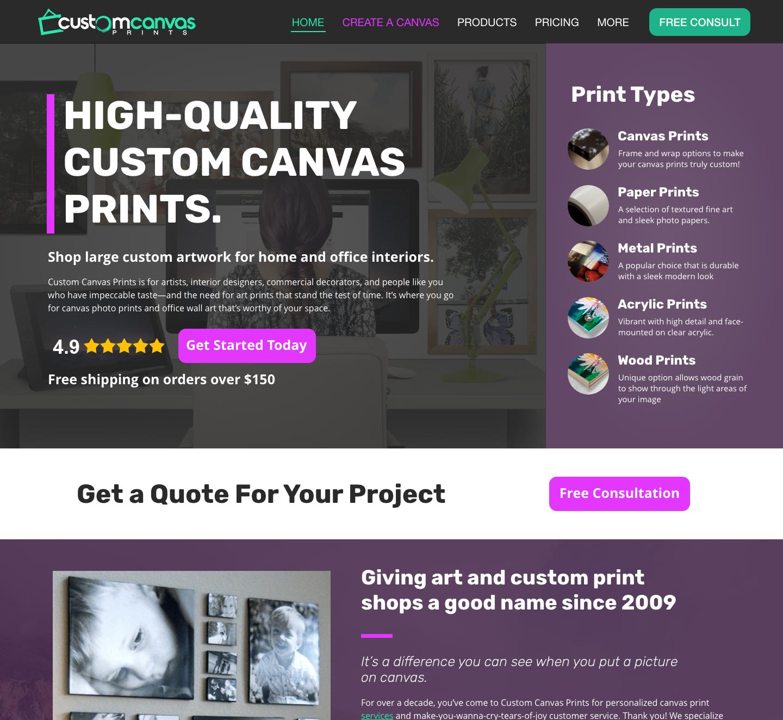 Custom Canvas Prints High Quality Canvas Wood Metal Art Prints